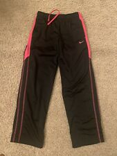 Nike Youth Large Yl Therma Fit Sweatpants Hot Pink Magenta Black With Pockets