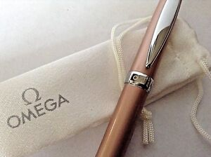 "OMEGA LADIES PEN BEAUTIFULLY EXECUTED IN ITS OWN POUCH NEW 4-1/2"" PERFECT FIT"