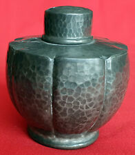 Pewter Warric Made for Liberty of London Segmented Tea Caddy (Arts and Crafts)