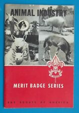 1944 Boy Scouts of America Merit Badge Series ANIMAL INDUSTRY Vintage Book