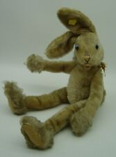 lovely vintage 50s Steiff Mohair Lulac bunny rabbit with button and tag