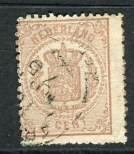 NETHERLANDS; 1869 early classic ' Arms ' issue fine used 1/2c. value