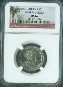 2013-S Fort McHenry National Parks  Quarter NGC MS67 Quality ✔️
