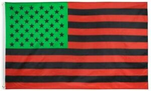 Afro American Flag 3x5 African American Black Lives Matter BLM US USA Red Green