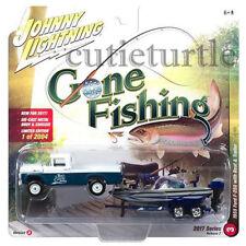 Johnny Lightning 1959 Ford F-250 1/64 Gone Fishing JLBT002 36H A Blue / White