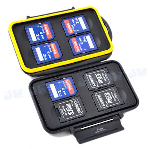 JJC Water-resistant&Anti-shock Hard Storage Memory Card Case for 8xSD/SDHC Cards