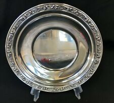 "STERLING SILVER Tidbit Round 8.5"" TRAY by GORHAM Rose Scroll #1222"