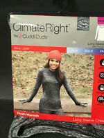 NWT ClimateRight Cuddl Duds Womens Black Warmth Long Sleeve Crew Shirt xs/small