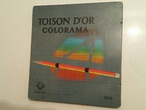 VINTAGE TOISON D'Or COLORAMA 3923 BOHEMIA WORKS Drawing used pencils and box