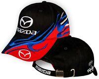 Mazda Noir Rouge Casquette 3D Brode Auto Logo Chapeau Baseball Cap Homme Femme