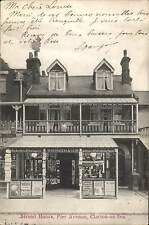 Clacton on Sea. Strand House, Pier Avenue by & showing W.H.Smith & Son, Clacton.