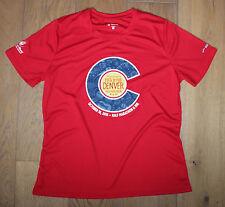 New Womens BROOKS Red Blue Running Jogging Exercise Shirt - DENVER MARATHON - XL