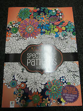 ADULT COLOURING BOOK - KALEDOSCOPE SPECTACULAR PATTERNS 96 PAGES A4 SIZE