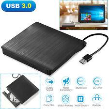 Slim External USB 3.0 CD DVD RW Writer Drive Burner Reader Player For Laptop PC