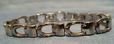 stainless steel link bracelet Nice Silver horseshoe - High power magnetic