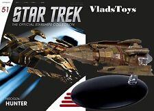 Eaglemoss Diecast Star Trek Hirogen Hunters Warship #51 w/Magazine