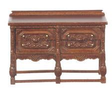 1/12 échelle maison de poupées qualité meubles 1870 gothique tour de poitrine/noyer 31038wn