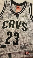 """Lebron James Cleveland Cavaliers """"Forest City"""" Nike Authentic Jersey Size MEDIUM"""