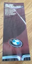 1985 BMW 316, 318i, 320i, 320e and 323i Colours and Upholstery Sales Brochure
