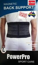 Adjustable Magnetic Back Support Brace with Elastic reinforce Size LARGE