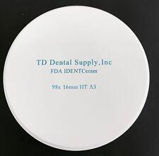 Single Shade HT Zirconia Disc (98.5 x 16mm) (HIGH TRANSLUCENT)