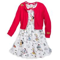DISNEY Store ANIMATORS COLLECTION 2018 DRESS w/CARDIGAN for Girls Pick Size NWT