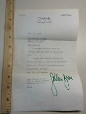 Colleen Moore- Signed Letter 1968