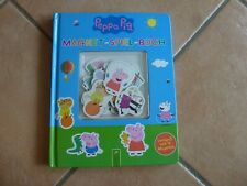 Peppa Pig Magnet-Spiel-Buch Lernspaß mit 16 Magneten, wie neu