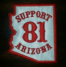 Hells Angels Cave Creek Support 81 AZ STATE SHAPED patch