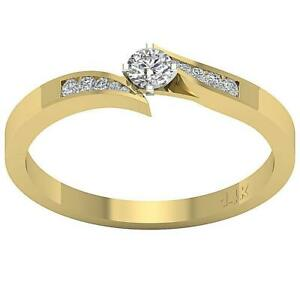 I1 G 0.70 Ct Round Cut Diamond 14K Yellow Gold Solitaire Engagement Ring 4.80MM