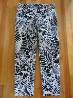 Talbots Women's Size 10 Hampshire Black + White Casual Pant Flat Front Pants