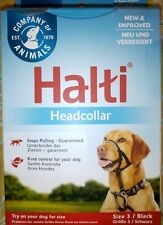 HALTI Head Collar Size 3 Black Gentle Stop Pull Dog Padded Noseband FREE POST