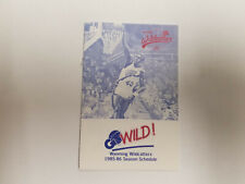 Wyoming Wildcatters 1985/86 CBA Basketball Pocket Schedule - KTWO