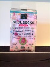 Earth Therapeutics Soul Socks Pink Polka Dot 1 Pair