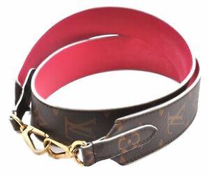"""Authentic Louis Vuitton Monogram Brown Pink Shoulder Strap 38.8"""" LV D9117"""