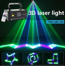 DMX Stage Laser Light Remote Control Green Blue Beam 3D Scanner Show DJ Bar