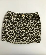 Rare Vtg Jean Paul Gaultier Junior Leopard Print Mini Skirt S