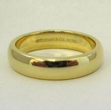 TIFFANY & Co. 18K Gold 4.5mm Lucida Wedding Band Ring 6.5