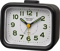 Rhythm quartz alarm clock analog Ja pre-Craft bell sound Made in Japan