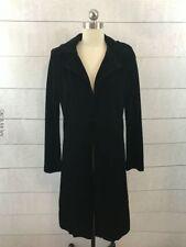 Equestrian Designs Black Velvet Long Jacket Duster Womens Size Small