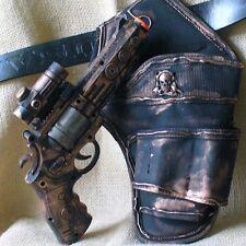 Steampunk gothic Gun Holster Belt Victorian Pirate CP revolver toy light sound