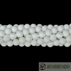"Natural White Alabaster Gemstone Round Beads 2mm 3mm 4mm 5mm 8mm 10mm 12mm 15.5"""