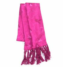 "PLAYBOY - ""CHARMING BUNNY"" PRINT PINK FRINGE LADIES SCARF - NWT"