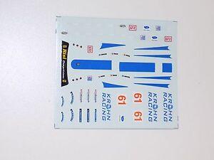 1/43 scale decals sheet for Tecnomodel Ferrari F430 Risi / Krohn ALMS #156