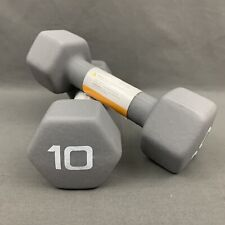 CAP Hex Neoprene 10 LB Pound Pair of Dumbbell Weights (20 LBS Total Weight) New