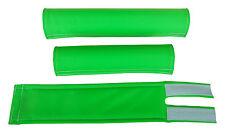 FLITE old school BMX padset foam racing pads BLANK BLANKS *USA MADE* NEON GREEN