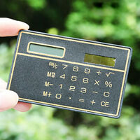 Mew Credit Card Size Solar Power Pocket Calculator Novelty Small Travel Compact