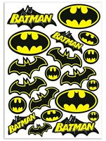 Set 20 Vinile Adesivi Batman Logo Film Decal Vinyl Sticker Auto Moto Casco Bici
