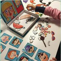 Jigsaw Puzzles Wooden Magnetic Puzzle Toys Creative DIY Magnetic Book for Kids