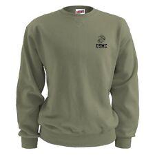 US Marine Corps Soffe Fleece Sweatshirt Old Stock 50%/50% USA Made 2Xl